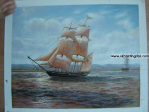 Boats and Ships Oil Painting On Canvas (T38)