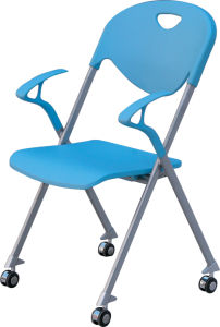 New Product Stackable Chair With Wheel and Armrest (YCD-55) pictures & photos