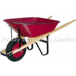 Wooden Handles Wheel Barrow (WH5400) pictures & photos