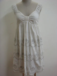 Ladies Embroidery Dress (US09DR001)