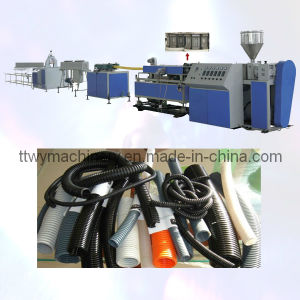 PE/PP/PA/PVC/EVA Single Wall Corrugated Pipe Extrusion Line pictures & photos
