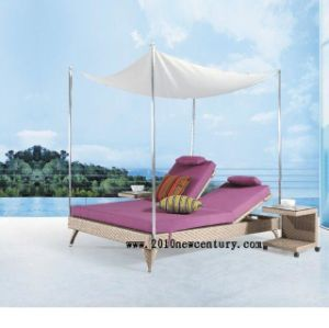 Double/Rattan/Garden/Outdoor/Patio Sun Bed and Lounger (5022)