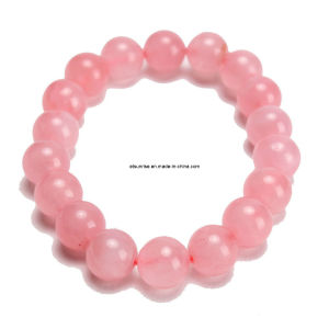 Fashion Natural Crystal Rose Quartz Beaded Bracelet pictures & photos