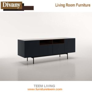 Latest European Designs TV Stand 834 TV Cabinet with Display Shelf Simple Wooden Furniture pictures & photos