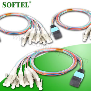 Single Mode Duplex Fiber Optic 12 Cores Single Mode Om3 MPO Patch Cord pictures & photos
