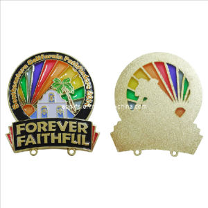 Low Cost Hollow out Offset Print Lapel Pin with Transparent Color (badge-045) pictures & photos