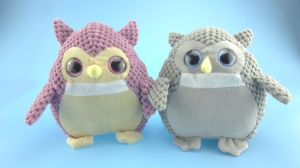 Soft Plush Owl Toy Two Color Asst. pictures & photos