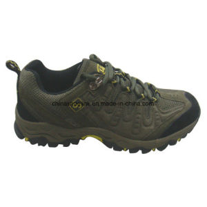 New Man Hiking Shoes Trekking Shoes Cow Suede Leather pictures & photos