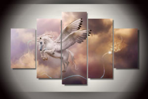 HD Printed Fantasy Art Unicorn Pegasus Painting Canvas Print Room Decor Print Poster Picture Canvas Mc-105 pictures & photos