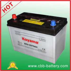 Top Quality KOYAMA Auto Battery Dry Charge Car Battery N70 pictures & photos