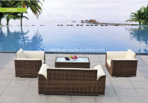 High Quality PU Leather and Rattan Garden Set pictures & photos