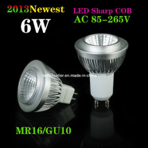 6W GU10/MR16 COB LED Spotlight (SD0115)