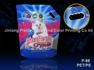 Stand up with Handling Hole Cat Litter Bag pictures & photos