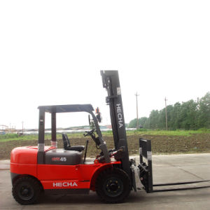 Hecha Forklift 4.5 Ton Diesel of Forklift Truck with Japan Isuzu Engine pictures & photos