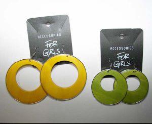 Wooden Earring (BGER080406-45)