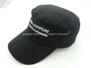 Custom Baseball Black Flat Caps for Men pictures & photos