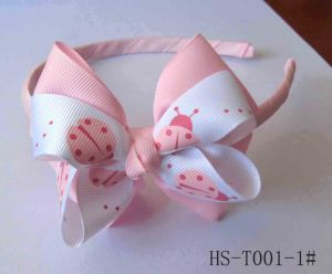 Headband, Hair Band, Ladybug Print Ribbon Headband (HB-T001-LADYBUG)