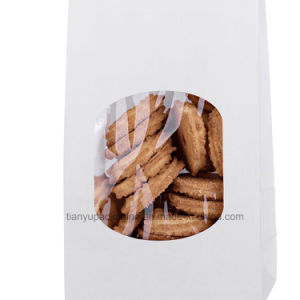Bakery Bags White Paper Bag Tin Tie Tab Lock Bags pictures & photos