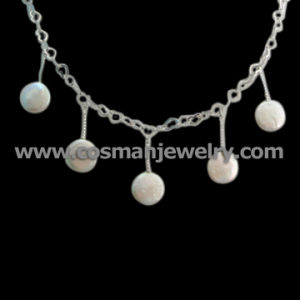 925 Sterling Silver Pearl Necklace (IHL0107A)