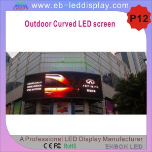 P12 High Quality Outdoor for Advertising Curved LED Sign pictures & photos