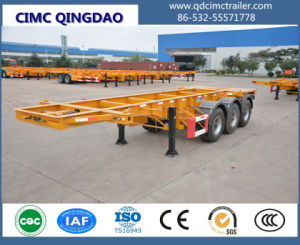 Cimc 20FT Double Axles Skeletal Semi Trailer Truck Chassis pictures & photos