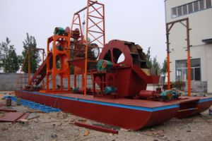 Chain Bucket Sand Dredger with Sand Washing Machinery