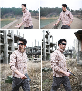 Desert Thin Tactical Men′s Skin Sunscreen Clothing Hiking Camping Coat pictures & photos