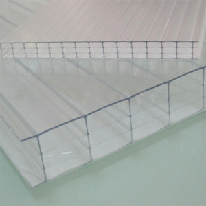 Anti-Fog Four Wall Hollow Polycarbonate Sheet for 10-Year Warranty pictures & photos