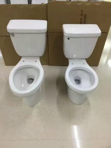 9011 Economic Round Siphonic Two Piece Ceramic Toilet pictures & photos
