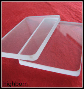 Transparent Quartz Glass Sheet Used for Optical Window pictures & photos