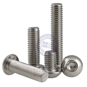 Button Head Screw Hex Socket Set Machine Screw ISO7380 pictures & photos