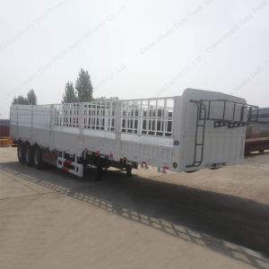 Tri-Axle 60 Tons Stake/Fence Truck Semi-Trailer pictures & photos