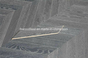 White Grained Dark Grey Engineered Oak Chevron Parquet pictures & photos