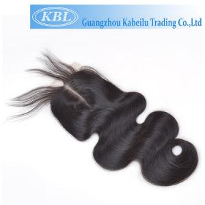 Black Human Hair Lace Closure 3.5*4 Middle Part pictures & photos