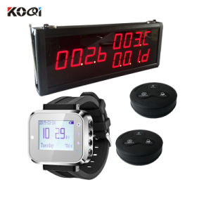 Fashion Design Small Electronic Buzzer Bell Wireless Service Waiter Remote Call Bell System pictures & photos