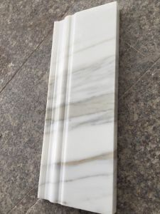 Wholesale Factory Polished White Marble Mouldings for Project pictures & photos