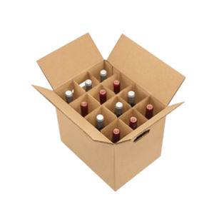 Corrugated Wine Packing Box and Partition Set (FP7089) pictures & photos