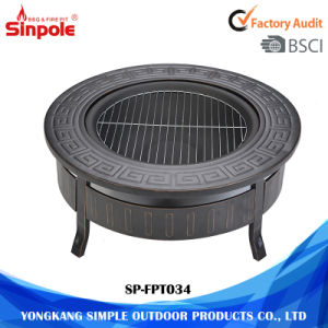 3-Feet Round Outdoor Fire Pit Table Grill with Mesh Cover pictures & photos