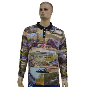 Embroidered Logo OEM Custom Sublimation Long Sleeve Polo Shirt pictures & photos