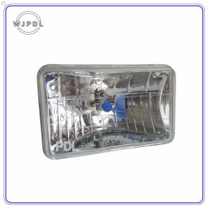 "4652 5"" Black Crystal Square Semi Sealed Beam Headlamp pictures & photos"