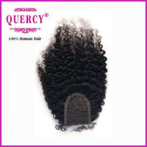 8A Free Parting Cambodian Virgin Remy Afro Curl Silk Top Lace Closure (cl-002) pictures & photos