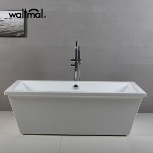 "72"" Floor Standing Acrylic Plastic Bathtub for Adult Portable Bathtub pictures & photos"
