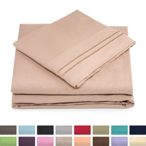 Amazon Top Selling Cheap Microfiber Polyester Bedding Bed Sheet China Supplier pictures & photos