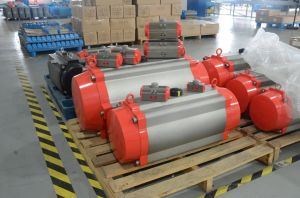 Pneumatic 3-PCS Ball Valve with Flange Type pictures & photos