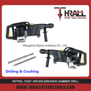 32.6cc 2 stroke petrol jack hammer demolition rotary hammer pictures & photos