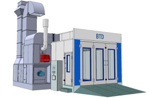 Btd High Quality Car Paint Booth Spray Paint Booth with Ce pictures & photos