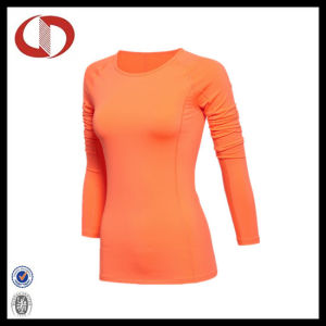 Long Sleeve Custom Logo Women Compression Shirts pictures & photos