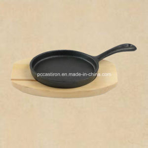 Round Cast Iron Sizzler Pan with Removable Handle pictures & photos