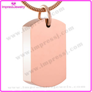 Blank Steel Dog Tag Urn Pendant Necklace for Pet Ashes Keepsake Holder Cremation Jewelry (IJD8416) pictures & photos