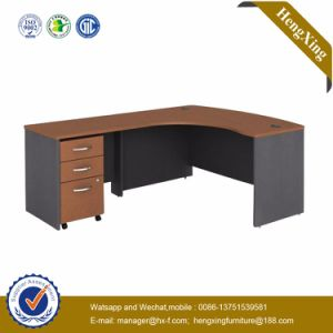 Melamine Formica PVC Laminated L Shape Executive Office Desk (HX-RS214) pictures & photos